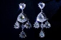 Tailor-made 18KW Rosa-cut Chandelier Earring